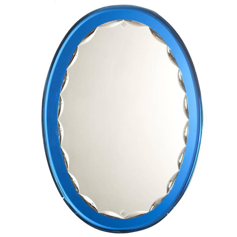 Stunning Italian Scalloped Mirror Fontana Arte Style