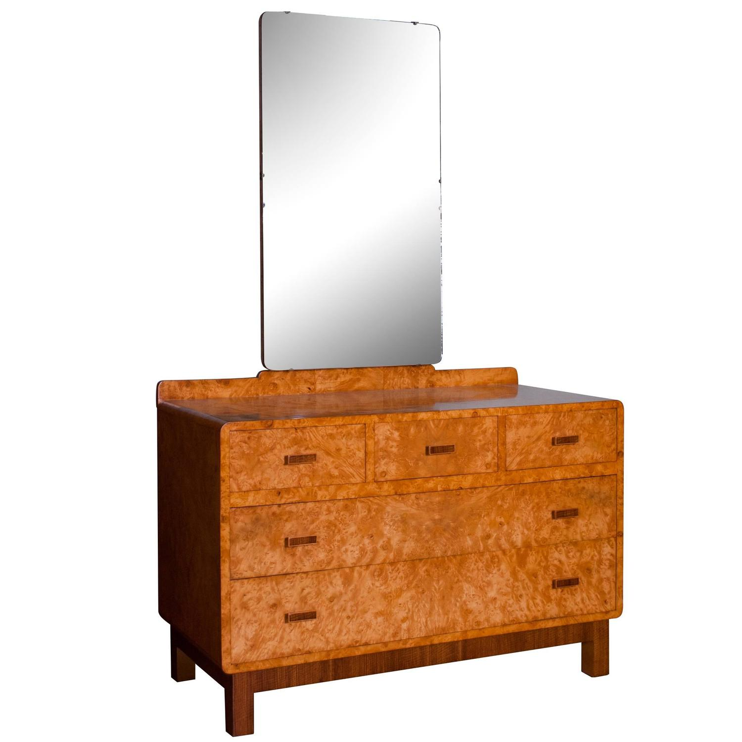 Art deco dressing table in bird s eye maple for sale at