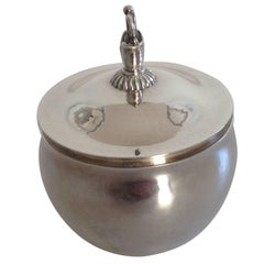 Georg Jensen Sterling Silver Lidded Bowl by Harald Nielsen