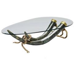 huge bronze and brass elephant tusk coffee tableitalo valenti