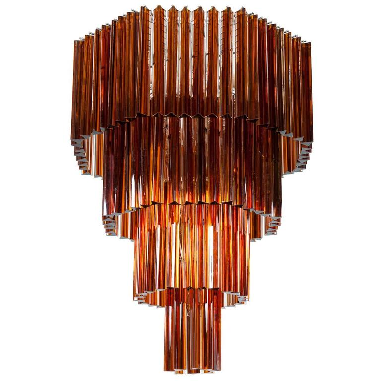 Handcrafted Italian Venetian Murano Glass Chandelier,  Attributed to Venini