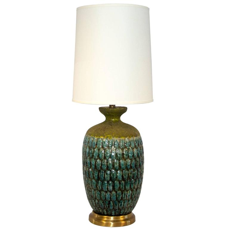 Studio Pottery, Ceramic Table Lamp