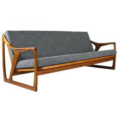Large Teak Sofa by De Ster Gelderland, 1960s