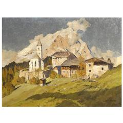 'Chapel at Pürgg, Austria' by Munich School Artist Hans Maurus