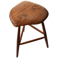 Wharton Esherick Oak Stool, 1968