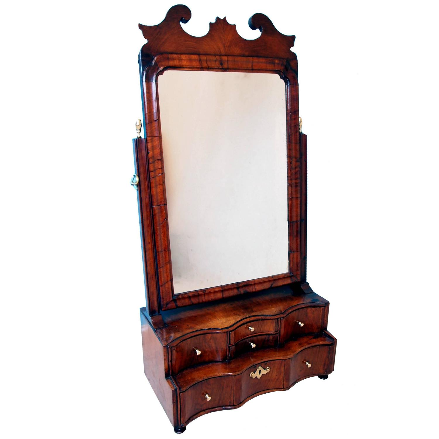 Antique georgian walnut dressing table mirror at stdibs