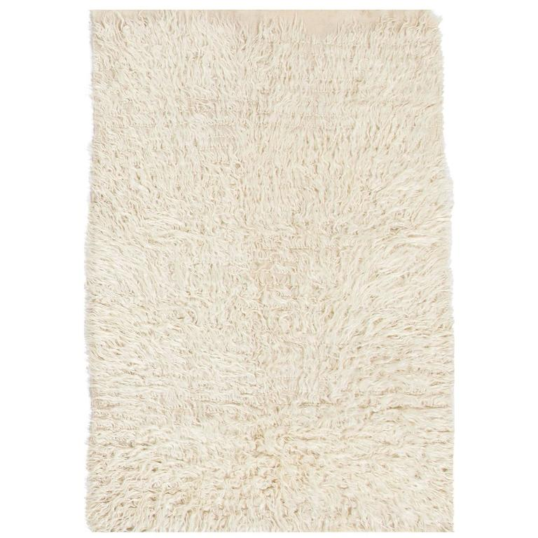 Solid Ivory Mohair Wool Quot Tulu Quot Rug For Sale At 1stdibs