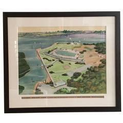 Watercolor Rendering for Unbuilt Recreation Center
