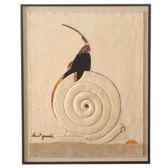 Virgin Wool Tapestry by Burt Groedel for Edward Fields