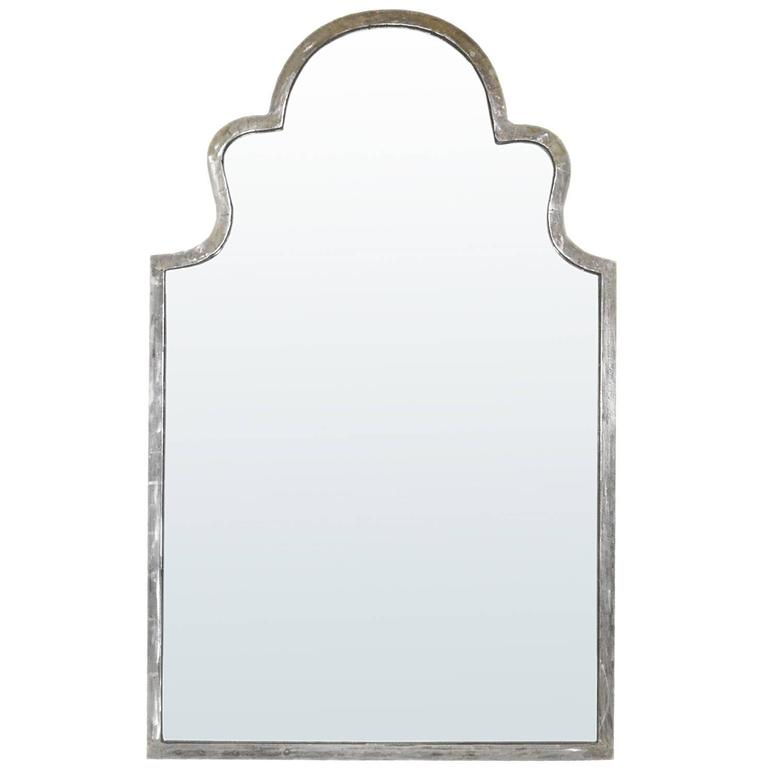 Contemporary Shaped Steel Framed Mirror
