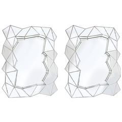 Pair of Odd Shaped Mirrors
