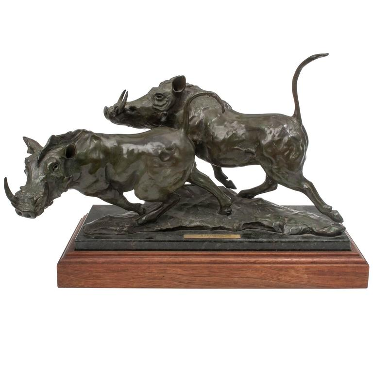 Bronze Warthogs by Sherry Sanders