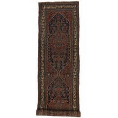 Antique Persian Bijar Carpet Runner, Long Persian Runner with Traditional Style