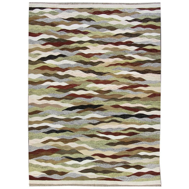 Nice looking flat weave kilim rug for sale at 1stdibs for Nice rugs for sale