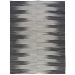 Modern Geometric Turkish Kilim Rug