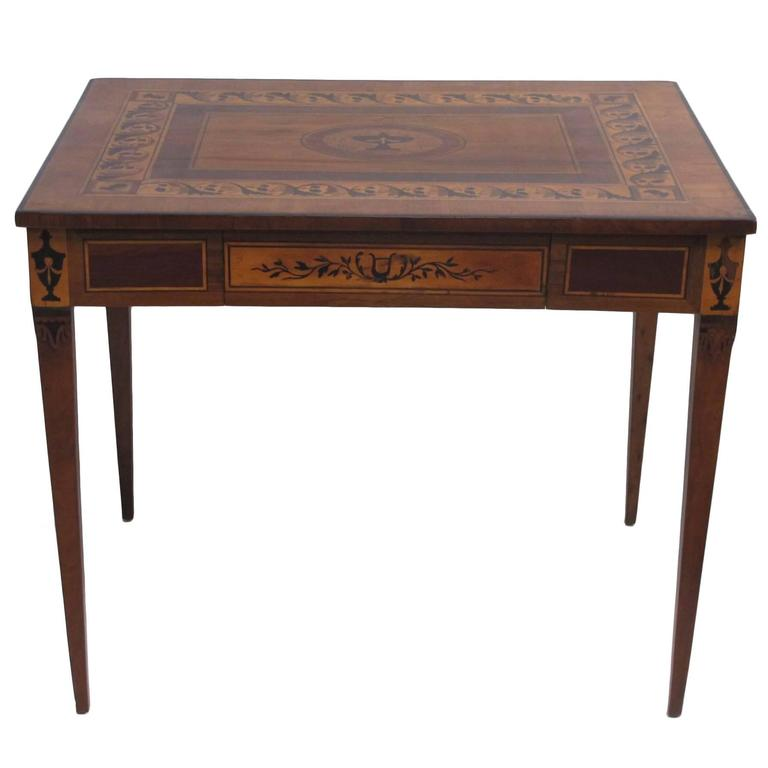 Italian Parquetry Inlaid Writing Table Desk
