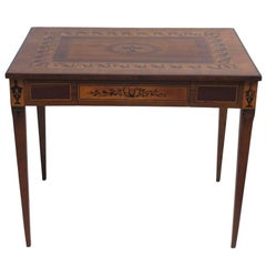 Italian Parquetry Inlaid Writing Table Desk, 18th Century