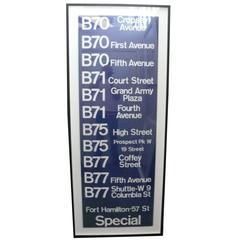 Vintage Brooklyn Bus Sign