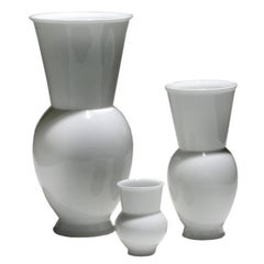 Marguerite Friedländer for KPM Group of Three White Ceramic Vases