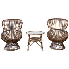 Set of Two Margherita Chairs by Franco Albini for V. Bonacina, Italy, 1951