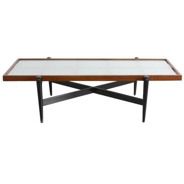 1950s Coffee Table In The Manner Of Gio Ponti For Sale At 1stdibs