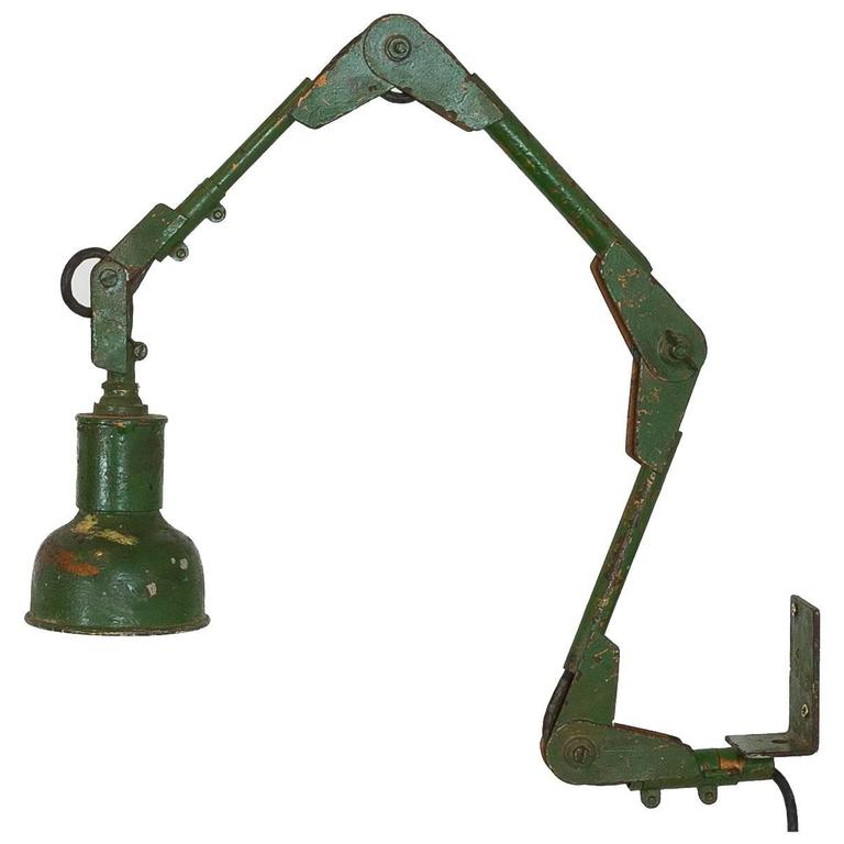 Industrial Machinist Wall Lamp For Sale