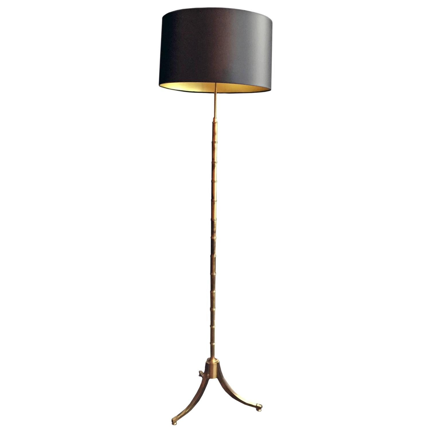 Faux bamboo floor lamp at 1stdibs for Tiffany bamboo floor lamp