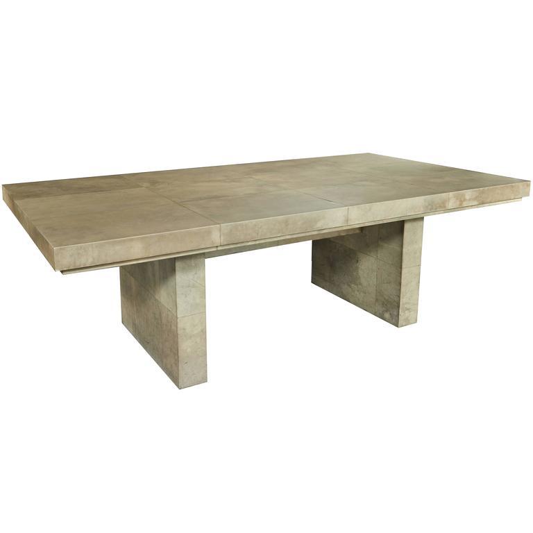 Samuel Marx Parchment Clad Dining Table