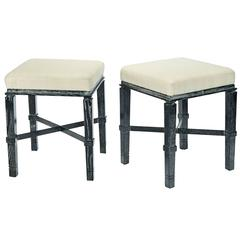 "William ""Billy"" Haines Stools in Silver Fox Finish"