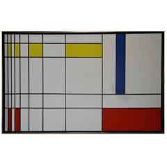 Piet Mondrian Style Oil Painting