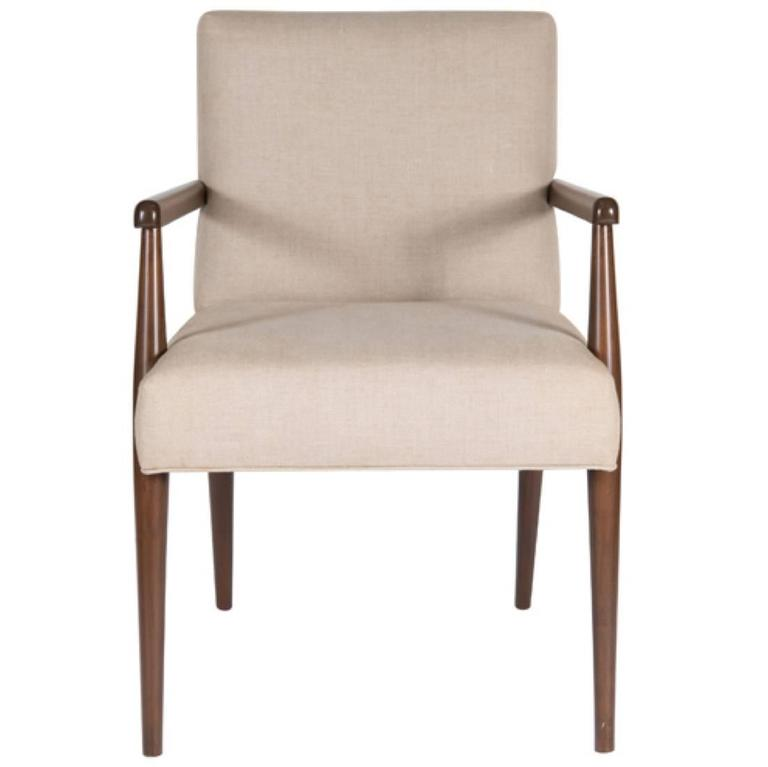 Sheppard Dowel Leg Arm Dining Chair 1
