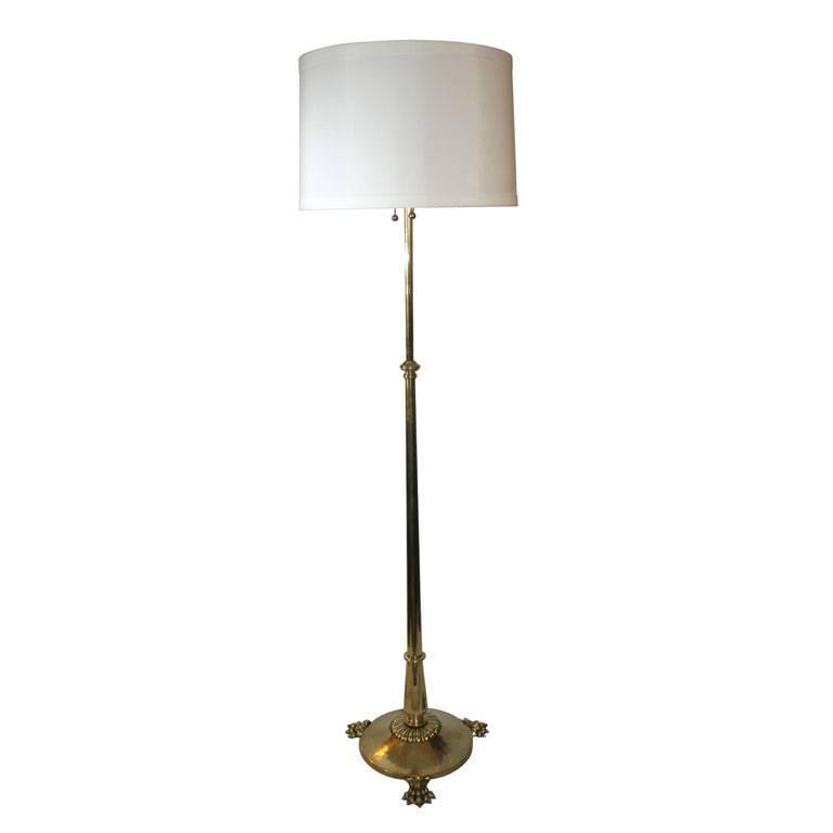 German Classical Modern Brass Adjustable Floor Lamp
