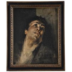 Early 20th Century Portrait of Saint Sebastian by Ricardo Villodas de la Torre