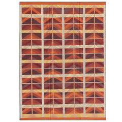 Large Modern Swedish Design Rug with Architectural and Geometric Pattern