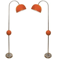 Pair of Mid-Century Floor Lamps