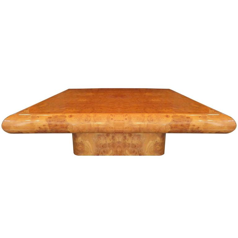 Modernist Elm Burl Cocktail Table at 1stdibs