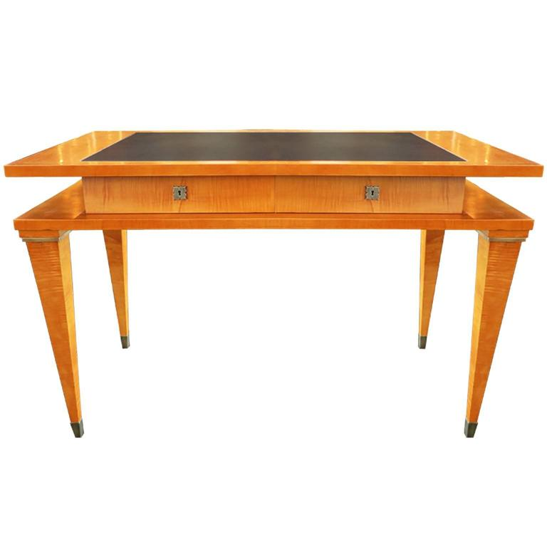 Mid-Century Modern Maple and Cherrywood Desk