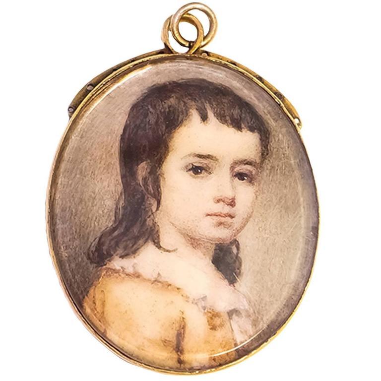 18th Century English School Portrait Miniature At 1stdibs