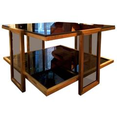 Small Smoky-Glass Coffee Table