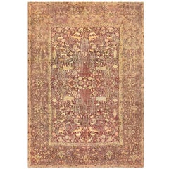 Large Red Antique Indian Agra Rug. Size: 11 ft 6 in x 16 ft 9 in