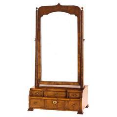 18th Century Georgian Walnut Dressing Mirror