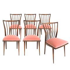 Set of Six Midcentury Chairs