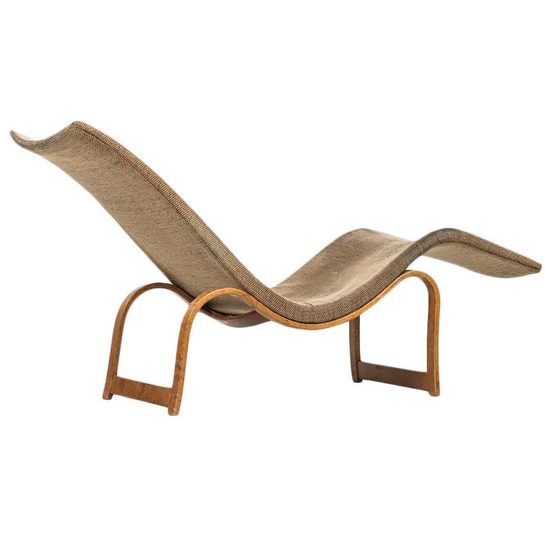 Bruno Mathsson Lounge Chair Model 36 by Karl Mathsson in Sweden For Sale