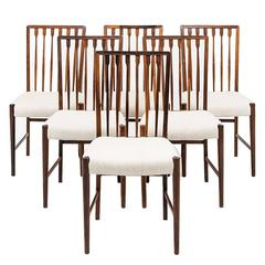 Set of Eight Agner Christoffersen Dining Chairs by N.C Christoffersen in Denmark