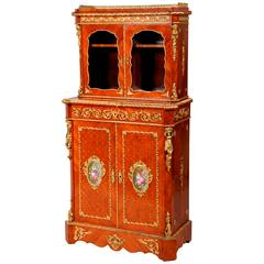 Napoleon III Period Ormolu and Porcelain Mounted Cabinet by Louis Grade