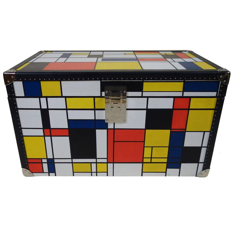 Piet Mondrian Trunk For Sale