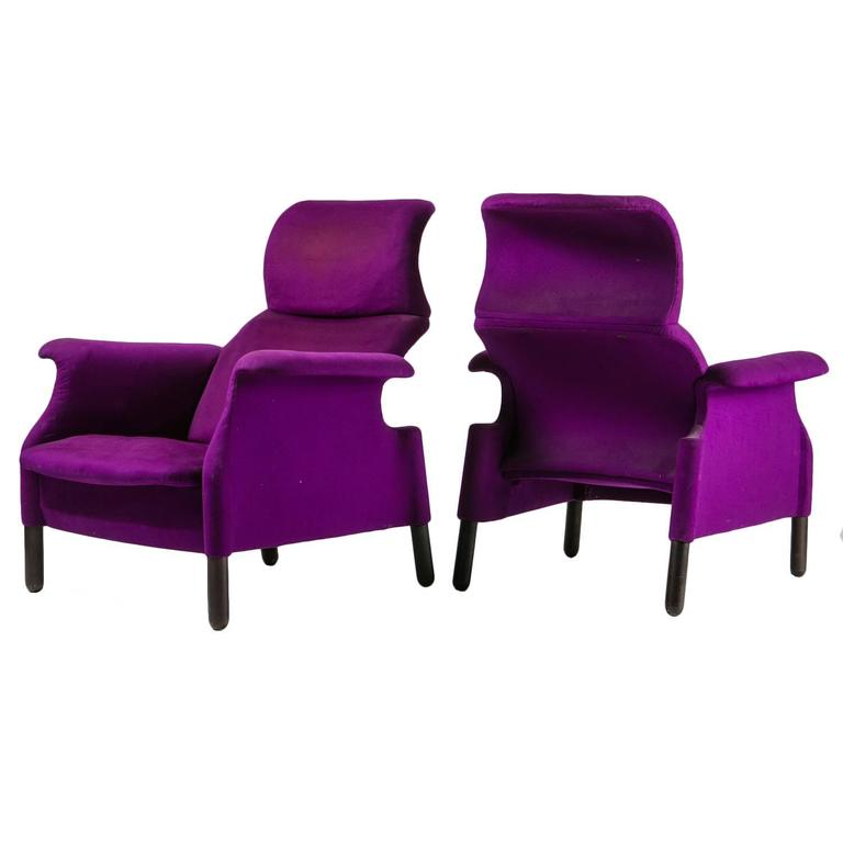 "Pair of ""Sanluca"" Lounge Chairs by Castiglioni for Gavina 1"