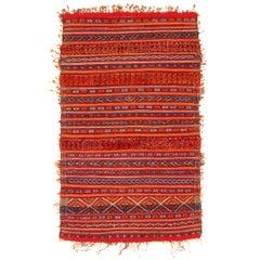 Rare Antique Zemmour Moroccan Berber Rug