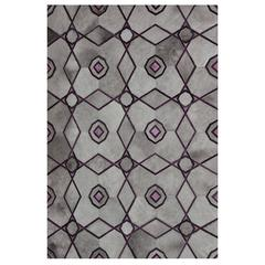 Purple, Ruby and Grey Kyle Bunting Hide-on-Hair Rug