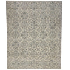 New Transitional Style Area Rug with Geometric Pattern